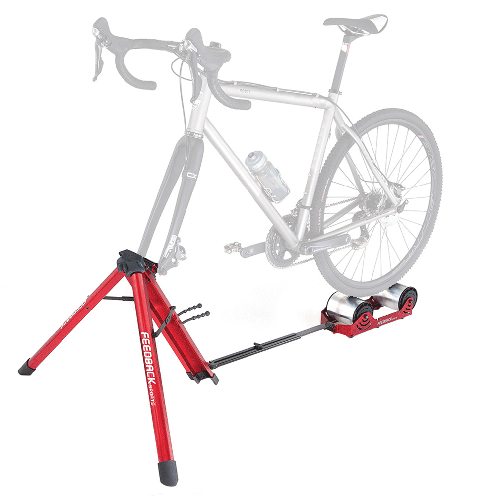 Feedback Sports Omnium Portable Bike Roller Trainer With Tote Bag