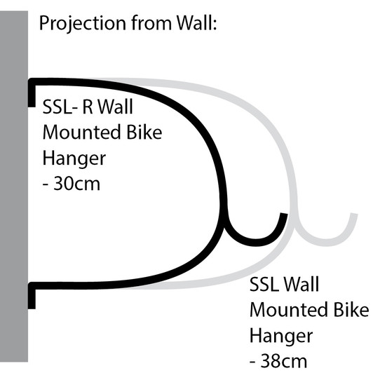 Cactus Tongue SSL Wall Mounted Bike Hanger