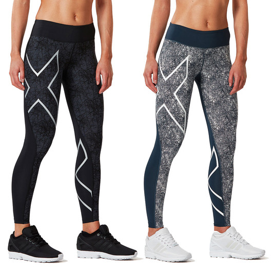 2XU Pattern Womens Mid-Rise Compression Tight