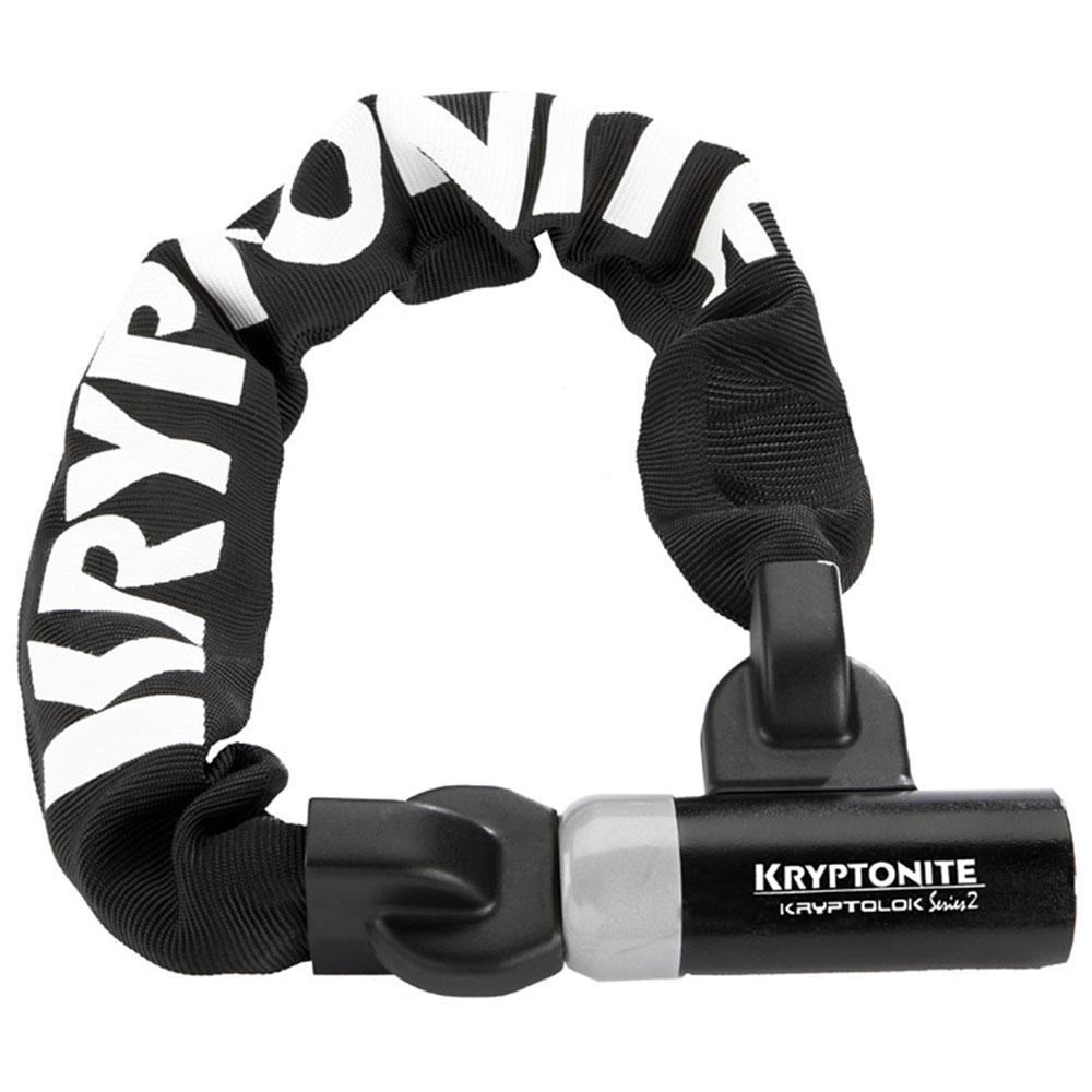 Kryptonite KryptoLok Series 2 955 Integrated Chain Bike Lock Sold Secure Silver