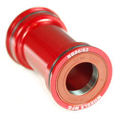 Wheels Manufacturing BB86/92 Bottom Bracket Angular Contact Bearings Shimano Compatible Red
