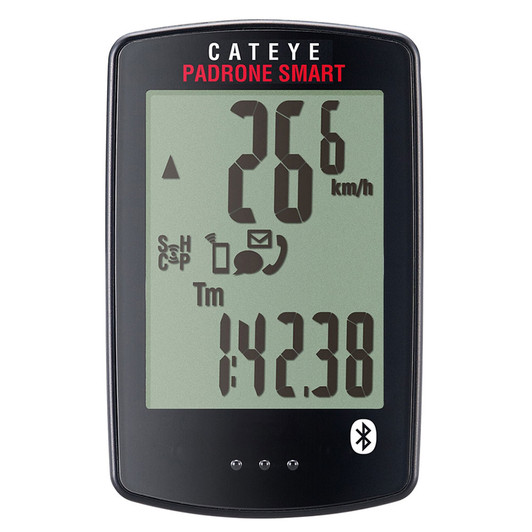 Cateye Padrone Smart Bluetooth Cycle Computer With Heart Rate & Cadence