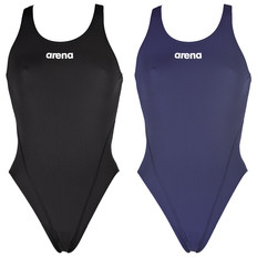 Arena Solid Swim Tech High-Cut Womens Swimsuit