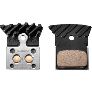 Shimano L04C Disc Brake Pads - Alloy Backed With Cooling Fins (Sintered)
