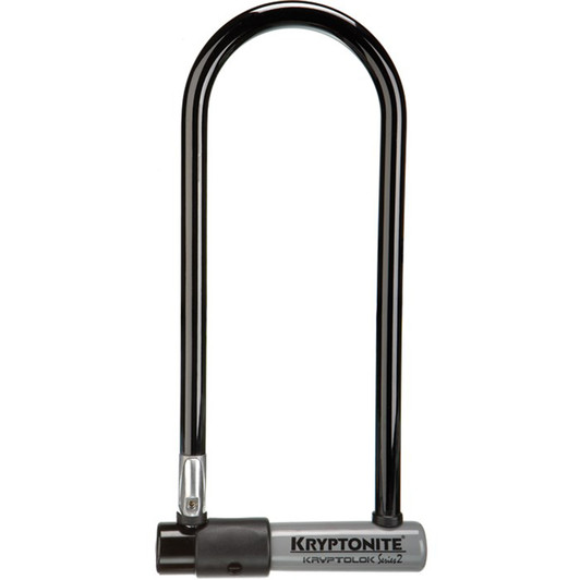 Kryptonite KryptoLok Series 2 Long Shackle U-lock + FlexFrame Bracket