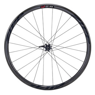 Zipp 202 Firecrest Carbon Clincher Disc Brake Front Wheel Black Decal 2019