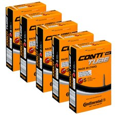 Continental Race 28 Inner Tube 700x18/25 42mm Presta Pack of 5 Bundle