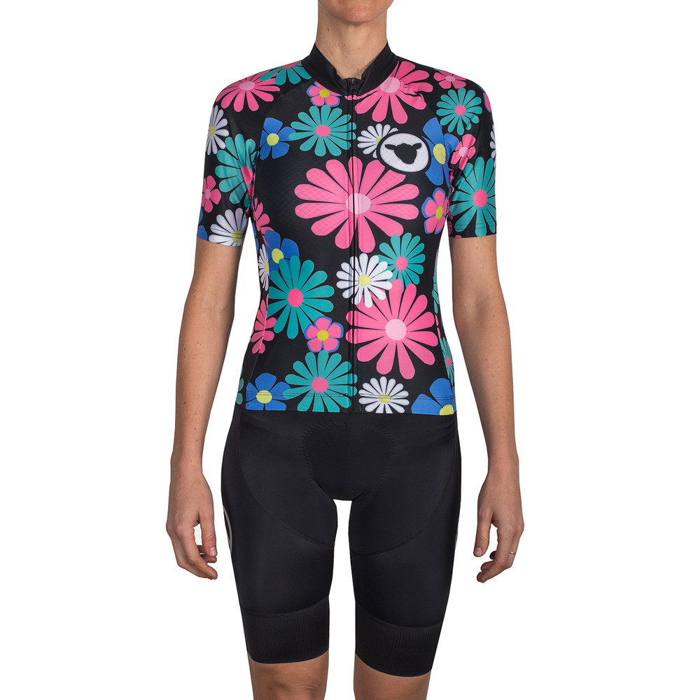 Black Sheep Cycling Summer Of Love Limited Edition Womens Full Kit - Flower Power