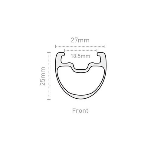 ENVE 25mm SES 2.2 Front Clincher Rim