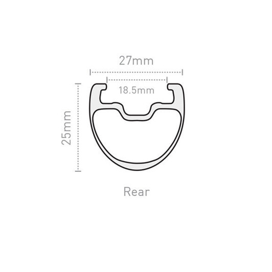 ENVE 25mm SES 2.2 Rear Clincher Rim
