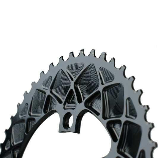 Absolute Black Premium Race Oval Shimano 4 Bolt Outer Chainring