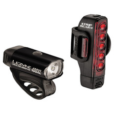 Lezyne Hecto 400 and Strip 150 Light Set