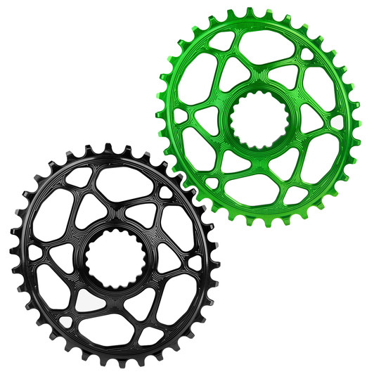 Absolute Black Cannondale Hollowgram Direct Mount MTB Oval Rings