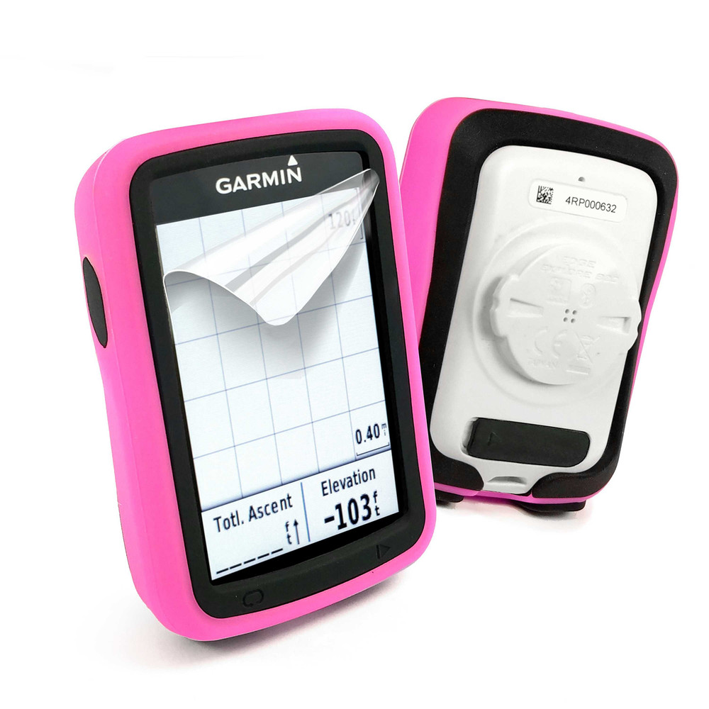 Tuff-Luv Silicone Twin Dual Layer Skin Case For Garmin Edge 820