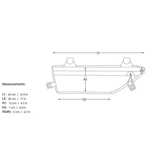 Apidura Small Road Frame Pack 3L