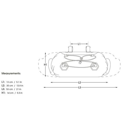 Apidura Dry Series Handlebar Pack 14L