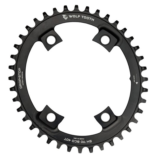 Wolf Tooth Components 110 BCD Elliptical Asymmetric 4-Bolt Chainring