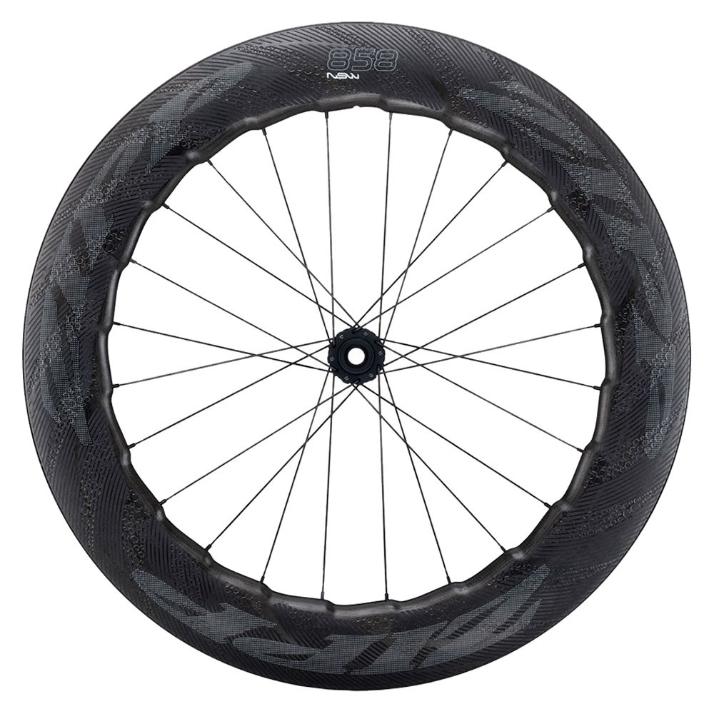 Zipp 858 NSW Carbon Clincher Disc Brake Centre Locking Front Wheel 2019