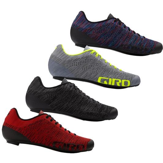 Giro Empire E70 Knit Road Bike Shoes Gray//Yellow