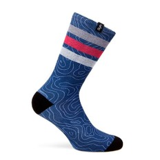 Pacific & Co. Map Blue Coolmax Socks