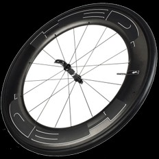 HED Jet 9 Black Standard Front Clincher Wheel