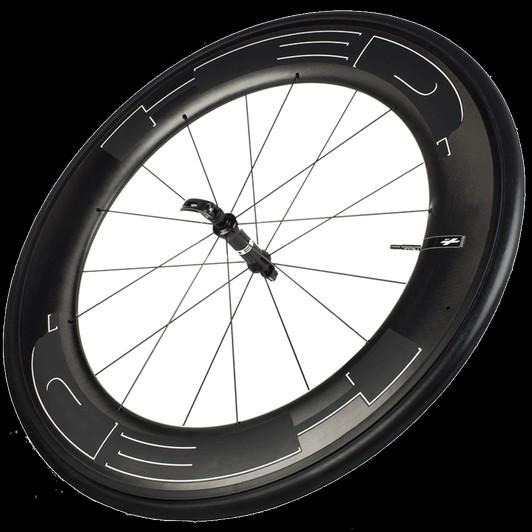 HED Jet 9 Black Standard Front Clincher Wheel