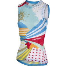 Castelli Pro Mesh Sleeveless Womens Print Base Layer