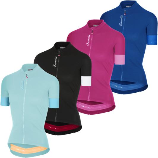 0dd7c2f03 Castelli Anima 2 Womens Full Zip Short Sleeve Jersey ...