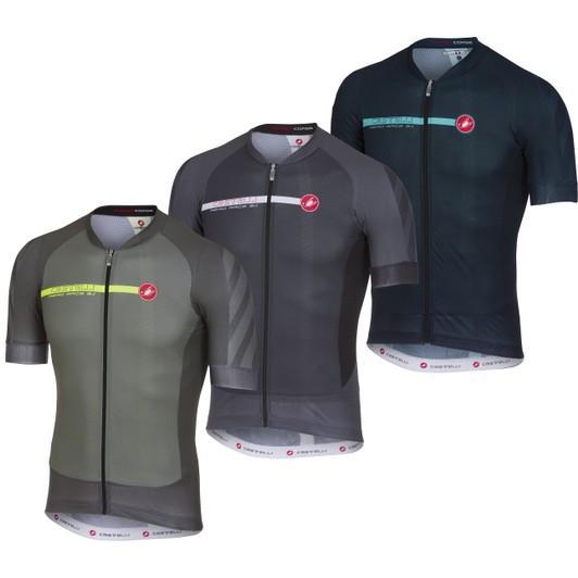 cebd6eb34 Castelli Aero Race 5.1 Full Zip Short Sleeve Jersey