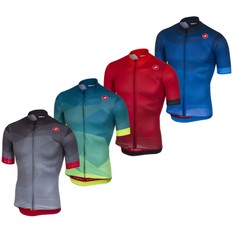 Castelli Flusso Short Sleeve Full Zip Jersey