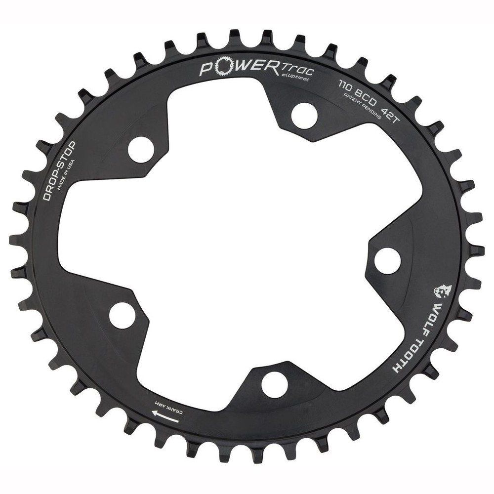 Wolf Tooth Components 110 BCD PowerTrac Elliptical Chainring