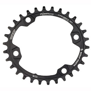 Wolf Tooth Components 96 BCD PowerTrac Elliptical Chainring For Shimano XT M8000 And M7000