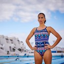 Zone3 Aztec Bound Back Womens Swim Costume