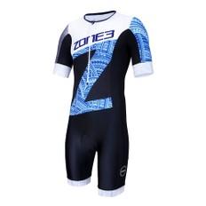 Zone3 Hawaii Print Lava Short Sleeve Aero Trisuit