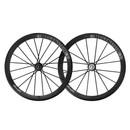 Lightweight Meilenstein 16/20 Carbon Tubular Endurance Schwarz Wheelset