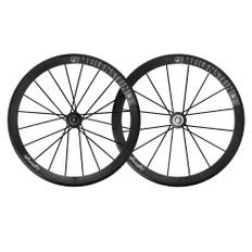 Lightweight Meilenstein 16/20 Carbon Clincher Endurance Wheelset Schwarz Edition