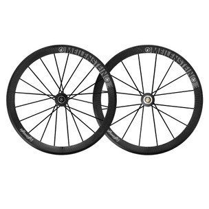 Lightweight Meilenstein 16/20 Carbon Clincher Endurance Wheelset Schwarz Edition