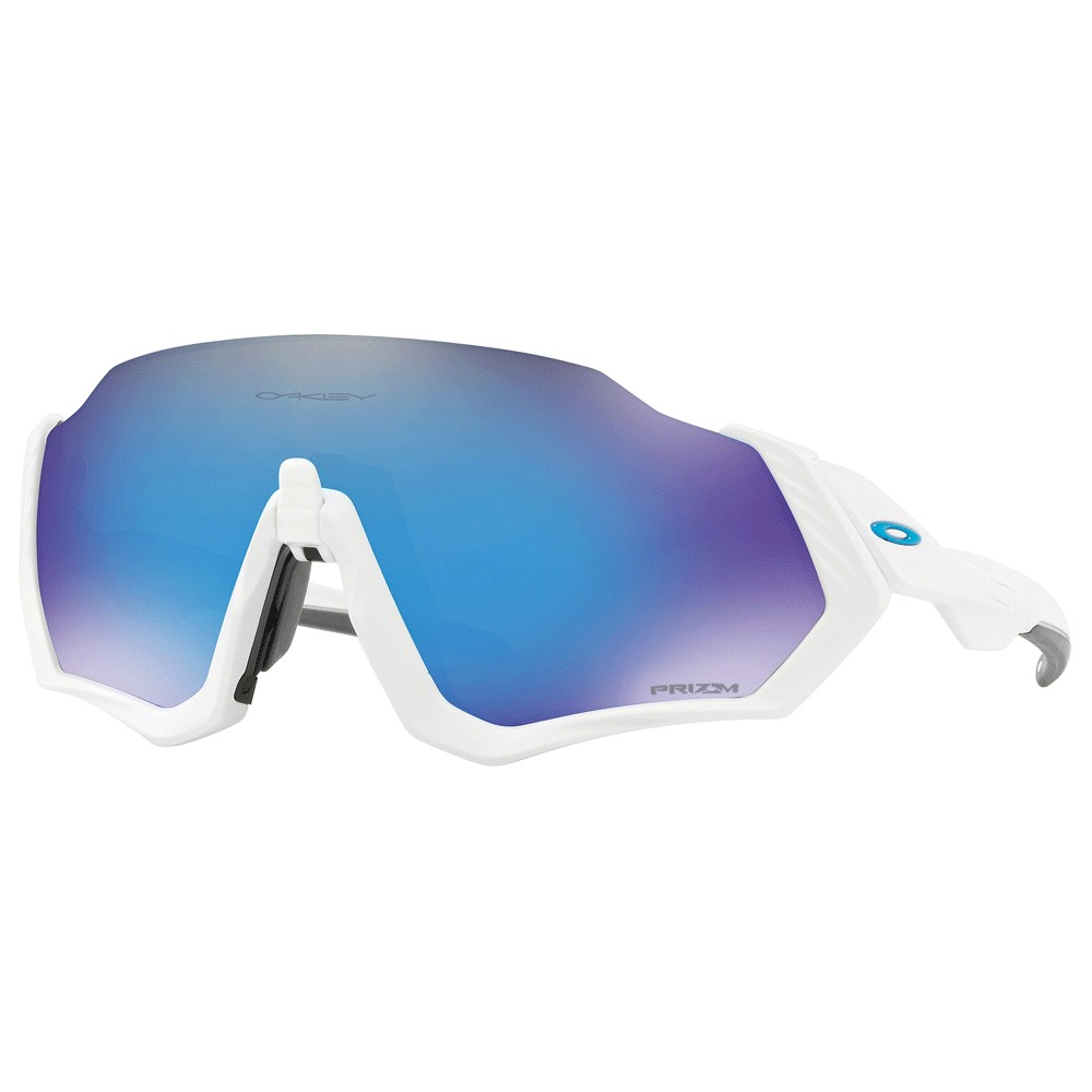 Oakley Flight Jacket Sunglasses With Prizm Sapphire Lens