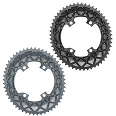 Absolute Black Premium Oval Shimano 4 Bolt Outer Chainring R9100 & R8000
