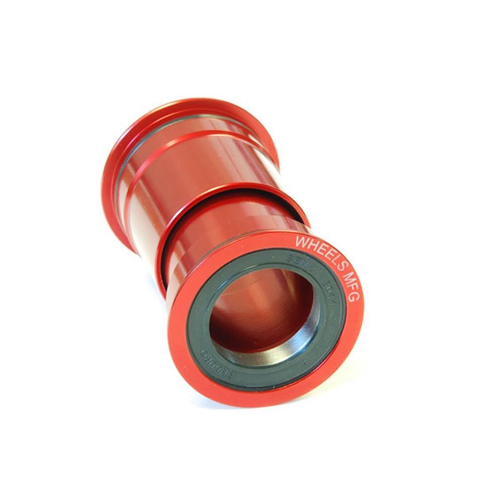 Wheels Manufacturing PressFit 30 Bottom Bracket - Angular Contact Bearing - Red
