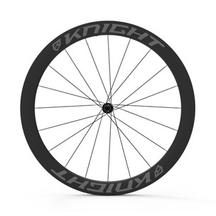Knight Composites 50 Tubeless Aero Carbon Clincher Disc Chris King R45 Wheelset