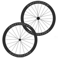 Knight Composites 50mm Tubeless Carbon Clincher Chris King R45 Wheelset