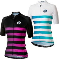Attaquer All Day Faded Stripe Womens Short Sleeve Jersey