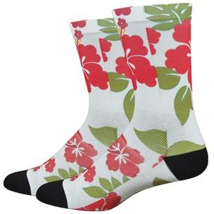 DeFeet Leviator Lite Aloha 6inch Cuff Socks