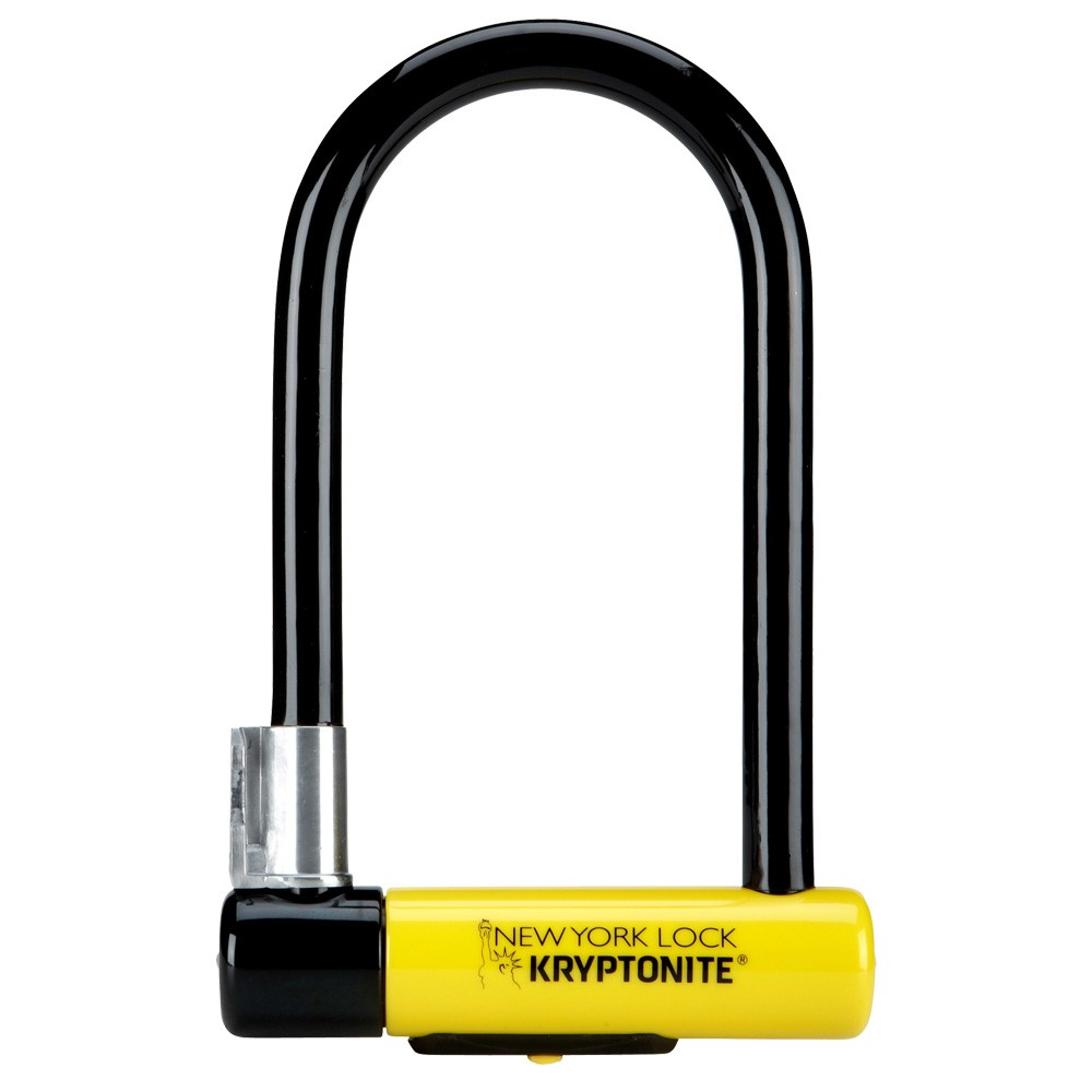 Kryptonite New York Standard Nyl Lock & Flexframe Bracket Sold Secure Gold