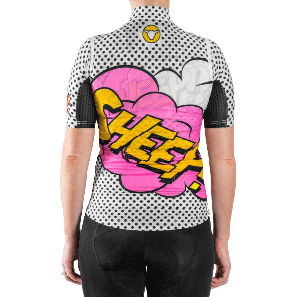Black Sheep Cycling LIMITED WOW! Gone Dotty Womens Gilet