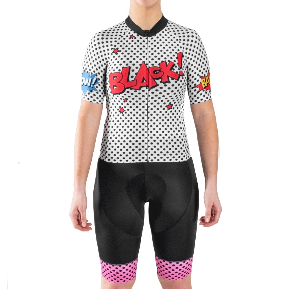 Black Sheep Cycling LIMITED WOW! Gone Dotty Womens Full Kit