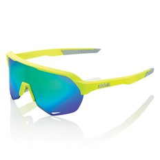 100% S2 Sunglasses with Green Mirror Lens