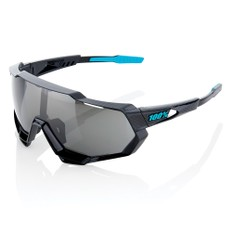 100% Speedtrap Sunglasses Black Mirror Lens