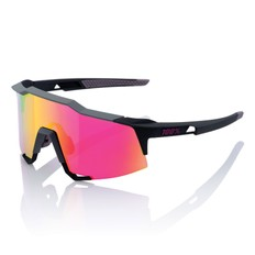 100% Speedcraft Sunglasses with Purple Mirror Lens